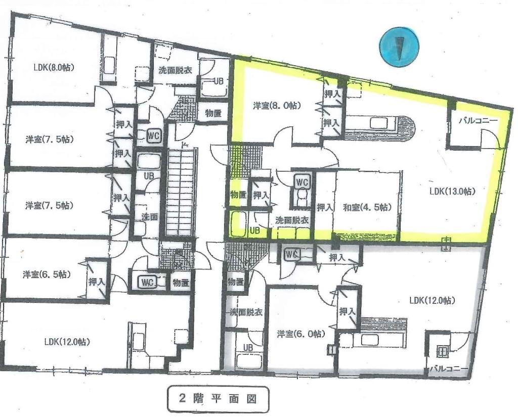 20190617110201611_0001高易ビル201号室平面図