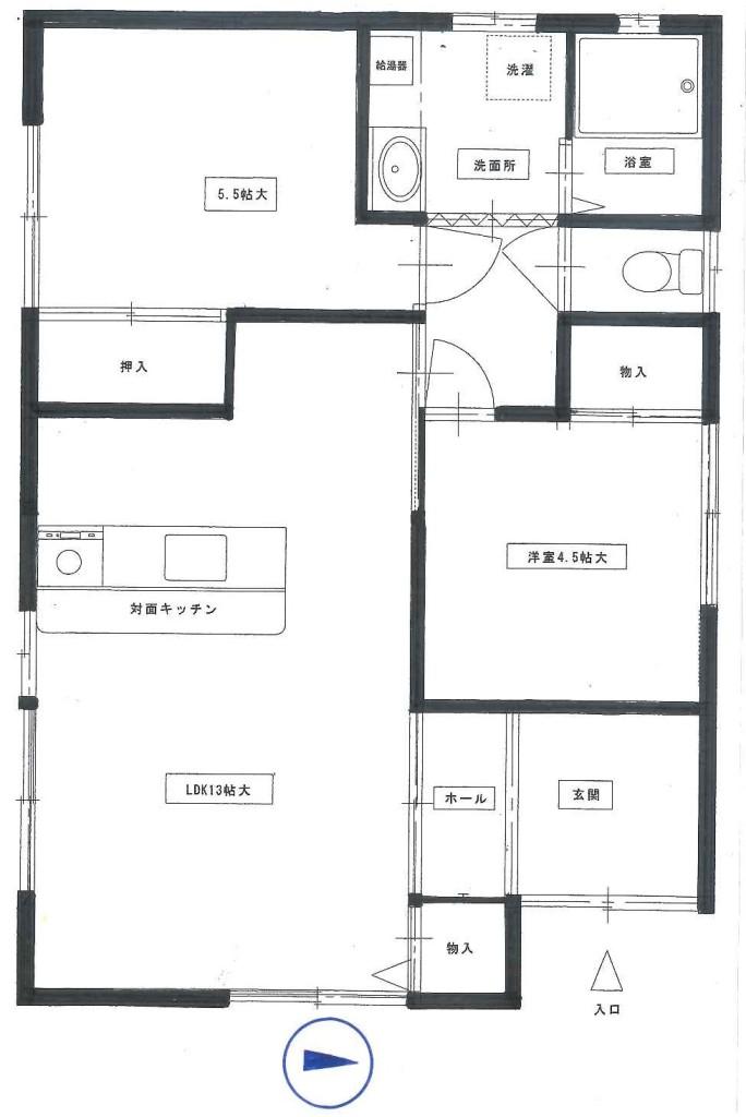 新田様借家2号棟平面図