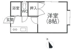リッチ・オーク弐番館201101平面図